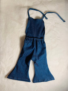 Stevie Stretch Denim Jumpsuit|Romper|Baby Jumpsuit| Kids Jumpsuit|Baby Romper|Kids Romper|Boho Romper|Baby Boho Clothing