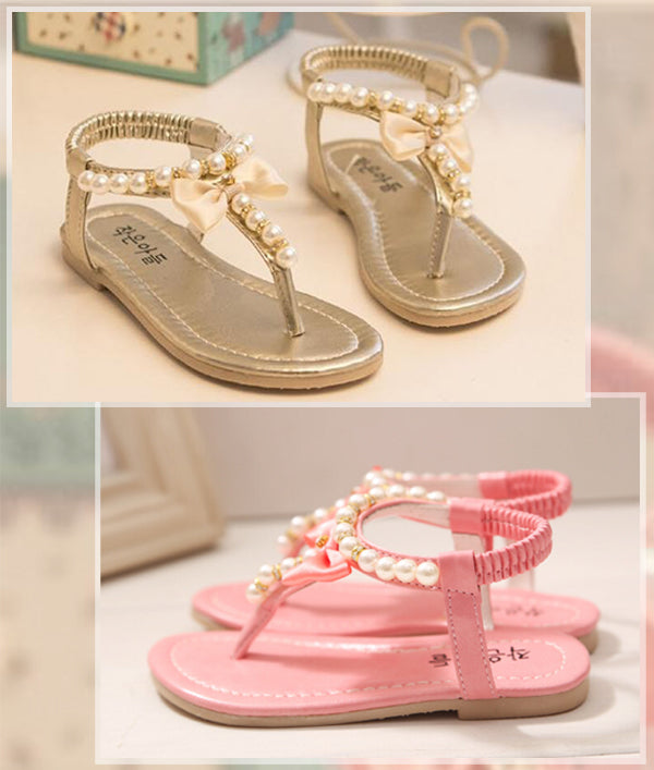 NEW Baby Girls Sandals Flower Girl Shoes Confirmation Shoes Princess Pearl  | eBay