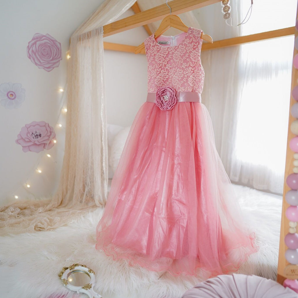 audrey tulle dress DUSTY PINK