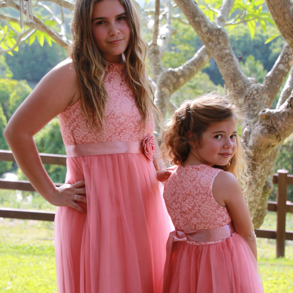 audrey tulle dress DUSTY PINK - Goosebumps Clothing