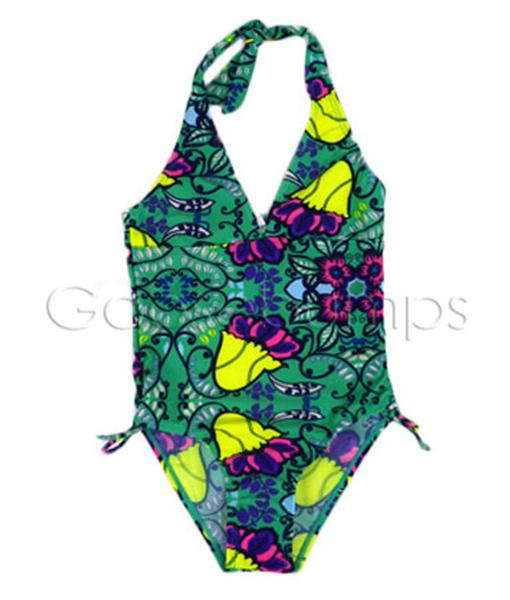 One Piece Green Swimsuit - Goosebumps Clothing