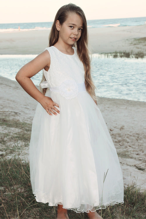 Audrey Tulle White Dress - Goosebumps Clothing