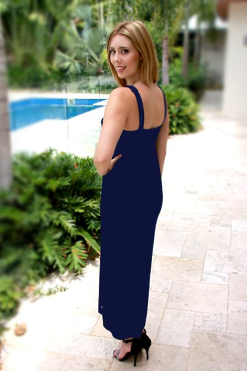 Giselle Royal Blue Maternity Maxi Dress - Goosebumps Clothing