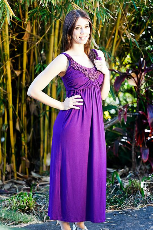 Giselle Purple Maternity Maxi Dress - Goosebumps Clothing