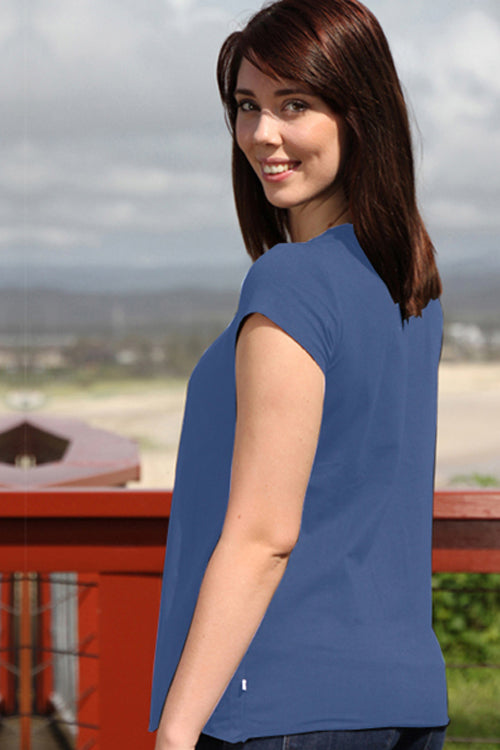 Mimi Tee Maternity Nursing Top Blue - Goosebumps Clothing