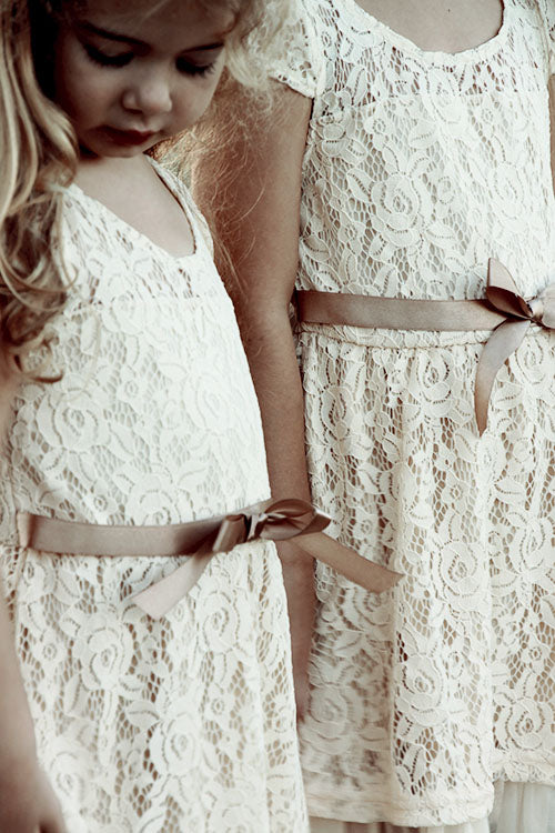 Rosey Lace Dresses IVORY - Goosebumps Clothing