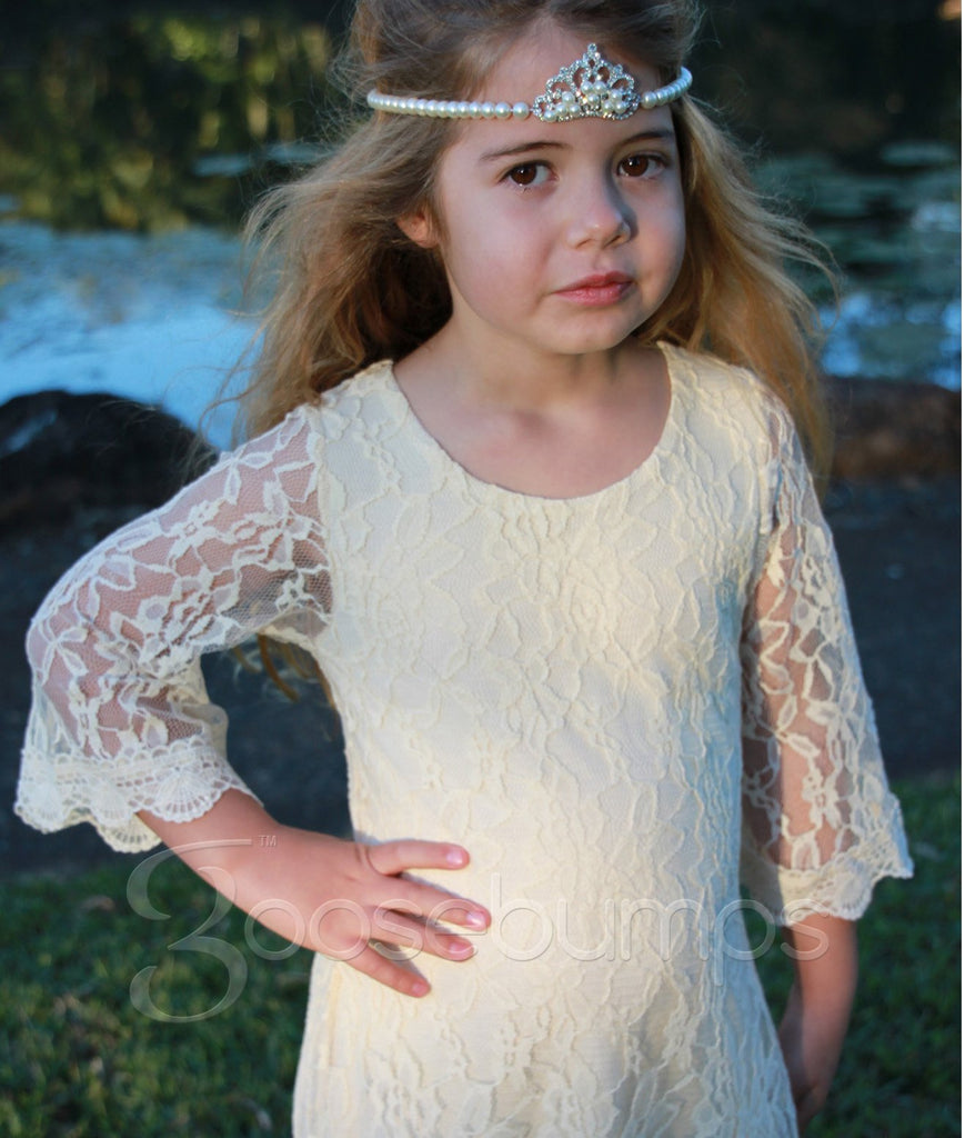 JoJo Lace Dress IVORY - Goosebumps Clothing