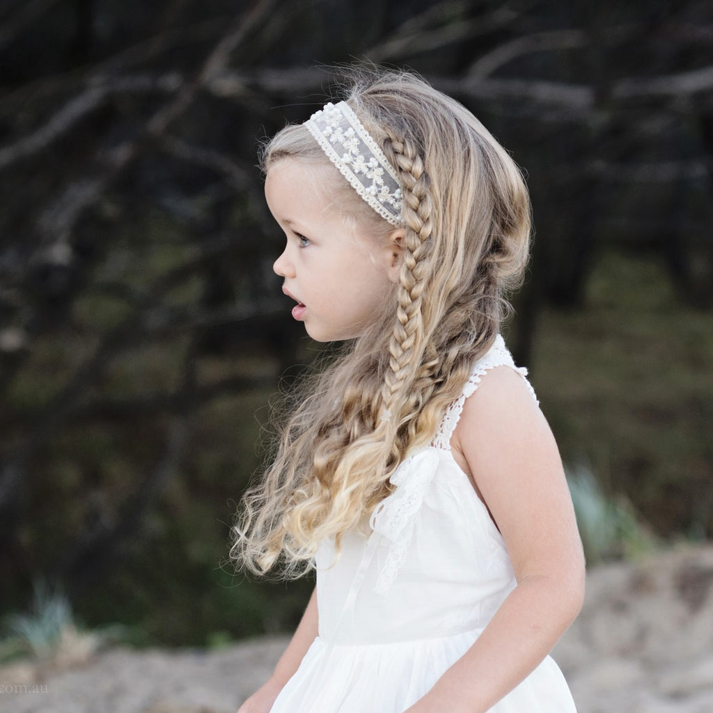 Cream Ivory Pearl Headbands