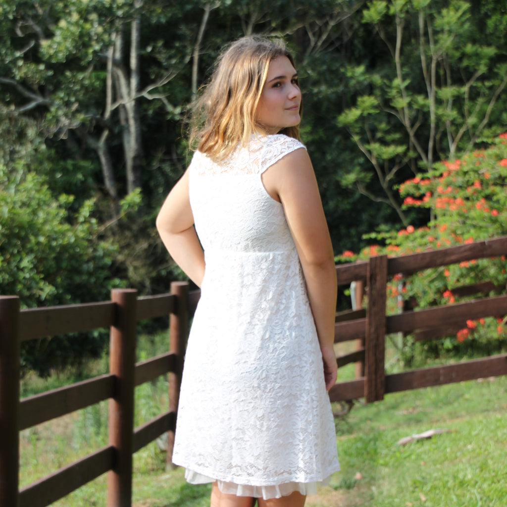 Rosey Lace Dress VINTAGE WHITE