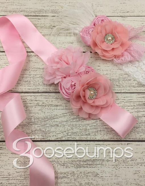 Sash and Feather Headband Set - Goosebumps Clothing