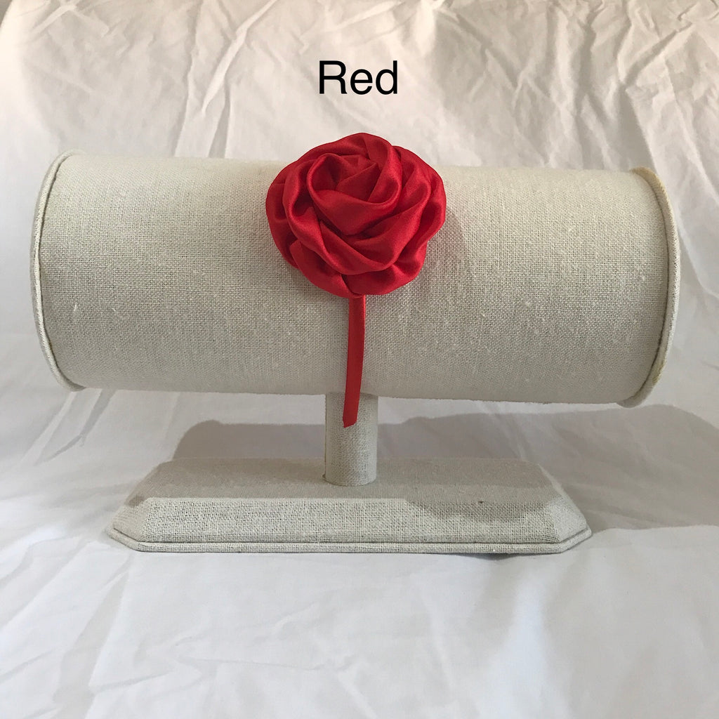 Satin Rose Headbands