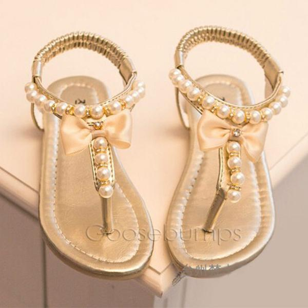 Pearl Sandals (Pink or Gold) - Goosebumps Clothing
