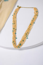 Juhi Turquoise Beaded Pearl Necklace