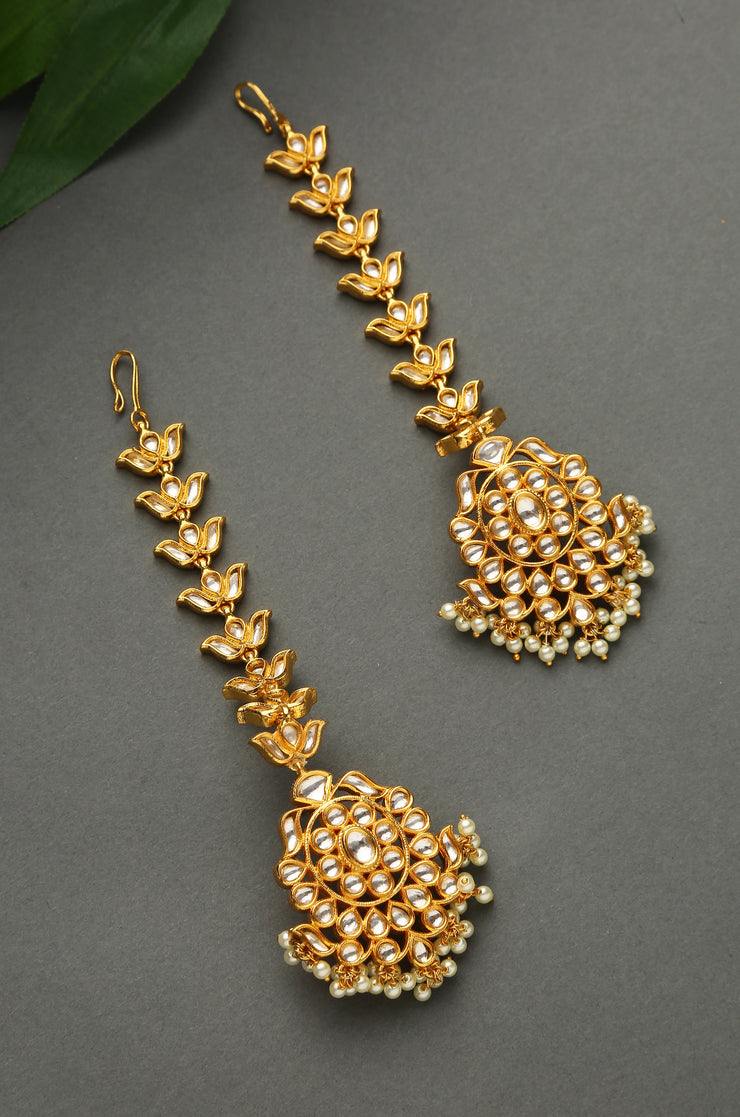Heema Polki And Pearl Earring With Pearls