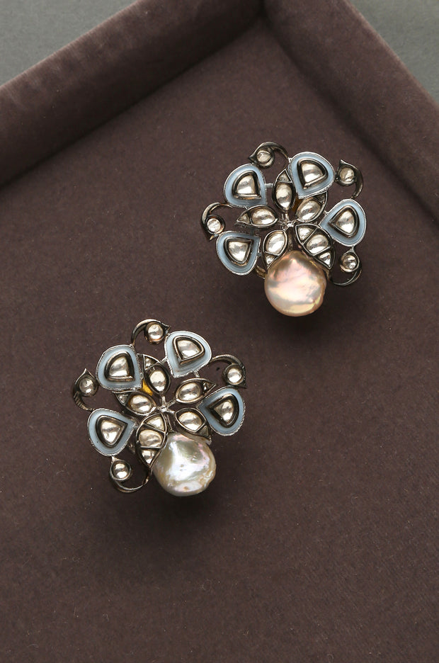 Bela Silver Plated Victorian Studs