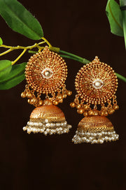 Vanyashiri Contemporary Temple Work Jhumkas