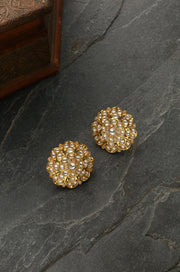 Sabitha Gold Plated Kundan Inspired Stud Earrings