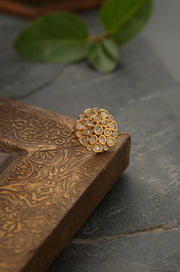 Baani Gold Plated Kundan Ring