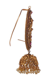 Diti Gold Plated Temple Work Earrings