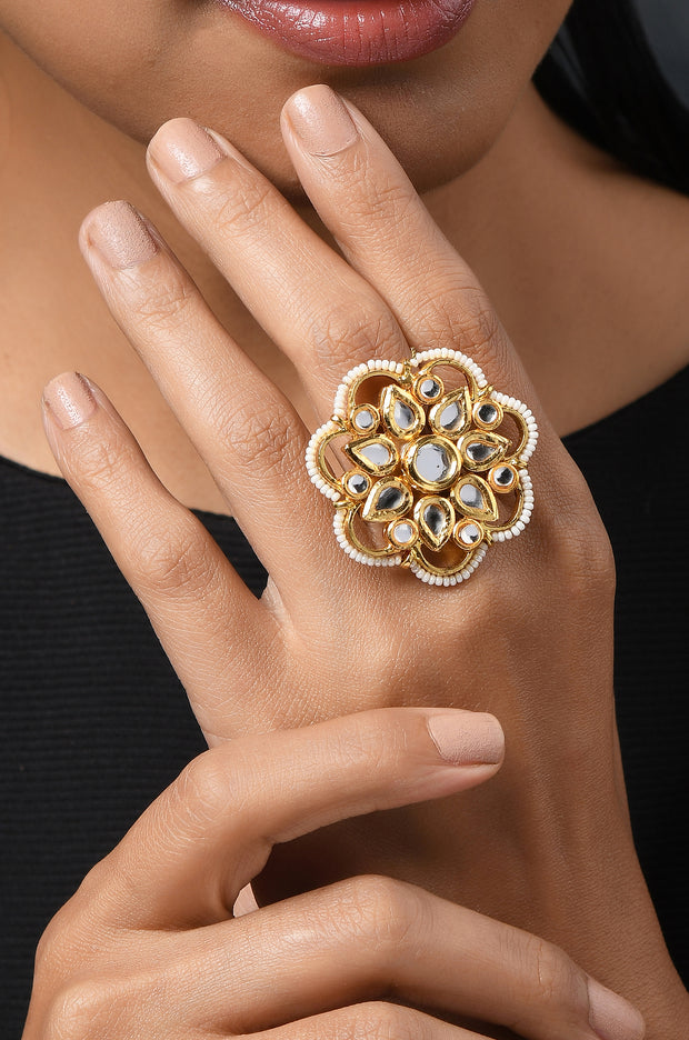 Suraiya Polki and Pearls Ring