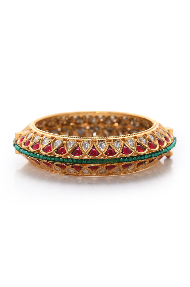 Kiriya Ruby Red Polki Bangle