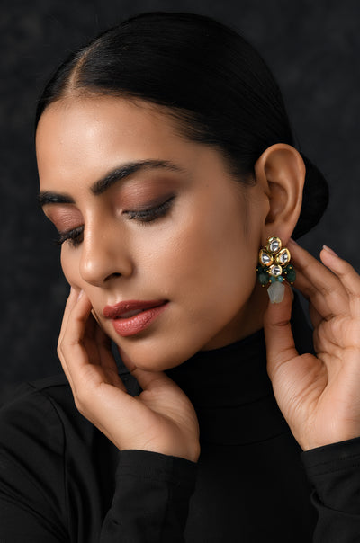 Damini Multicolor Kundan Inspired Earrings
