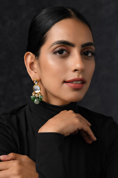 Naavya Multicolor Kundan Inspired Earrings