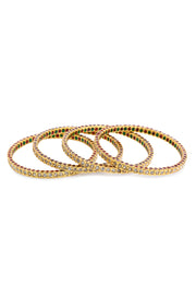Tehmina Gold Tone Polki Jadau Bangle - Set Of 4