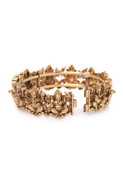 Pushp Gold Plated Temple Work Bangles - Set of 2