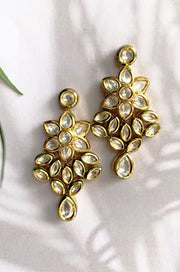 Aania Classic Gold Plated Kundan Inspired Earrings