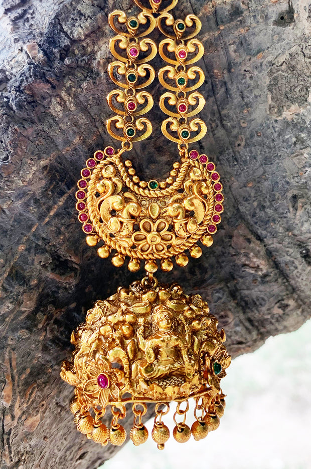 Pakhi Gold Tone Temple Work Earrings