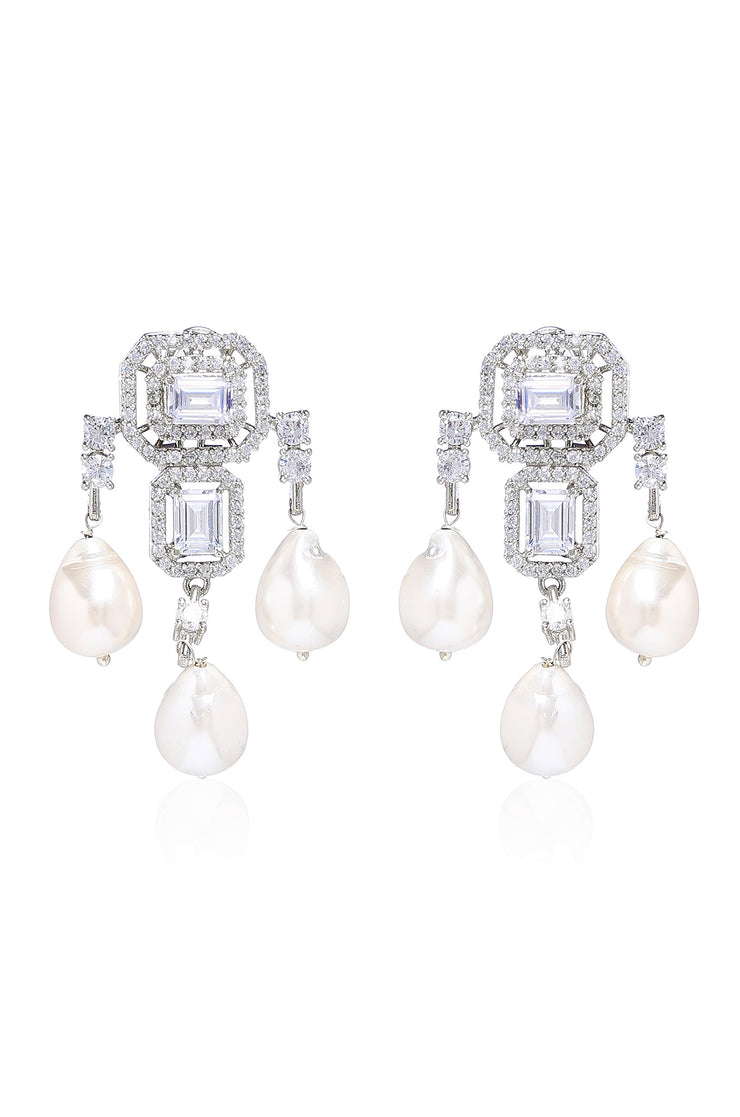 Ela Classic Silver Victorian Earrings
