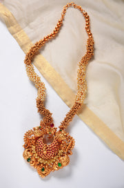 Sudha Gold Plated Temple Work Pendant Necklace Set