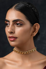 Samaira Gold Tone Kundan Inspired Choker Necklace