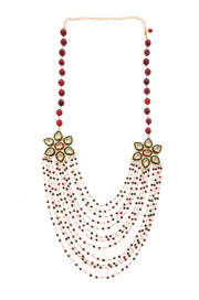 Razia Multicolored Kundan Inspired Beaded Handcrafted Necklace