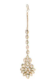 Saima Gold Plated Kundan Necklace