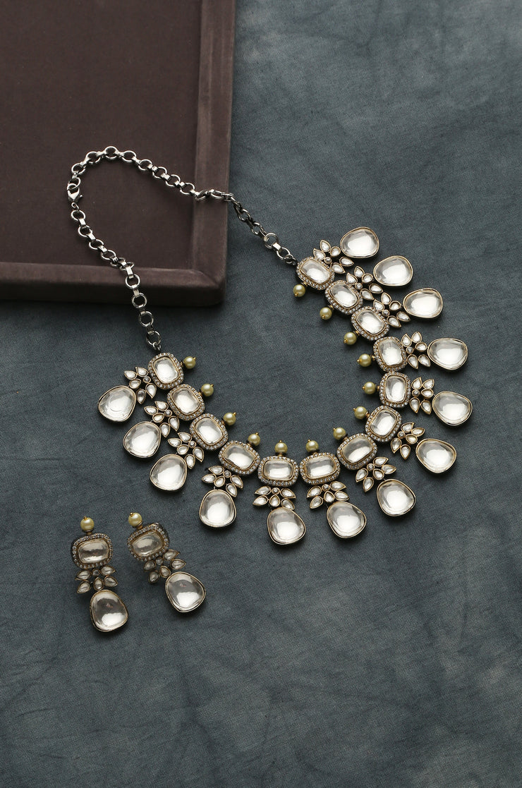 Enakshi Silver Victorian Necklace Set