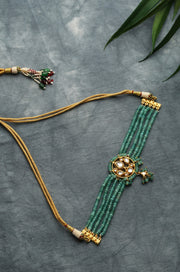 Prakrati Jade Green Gold Tone Kundan Inspired Stones Choker Necklace