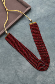 Ruhi Red Handcrafted Onyx Necklace