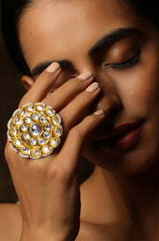 Heli Polki and Pearls Ring