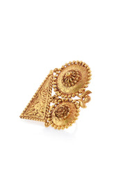 Vyoma Gold Contemporary Temple Work Ring