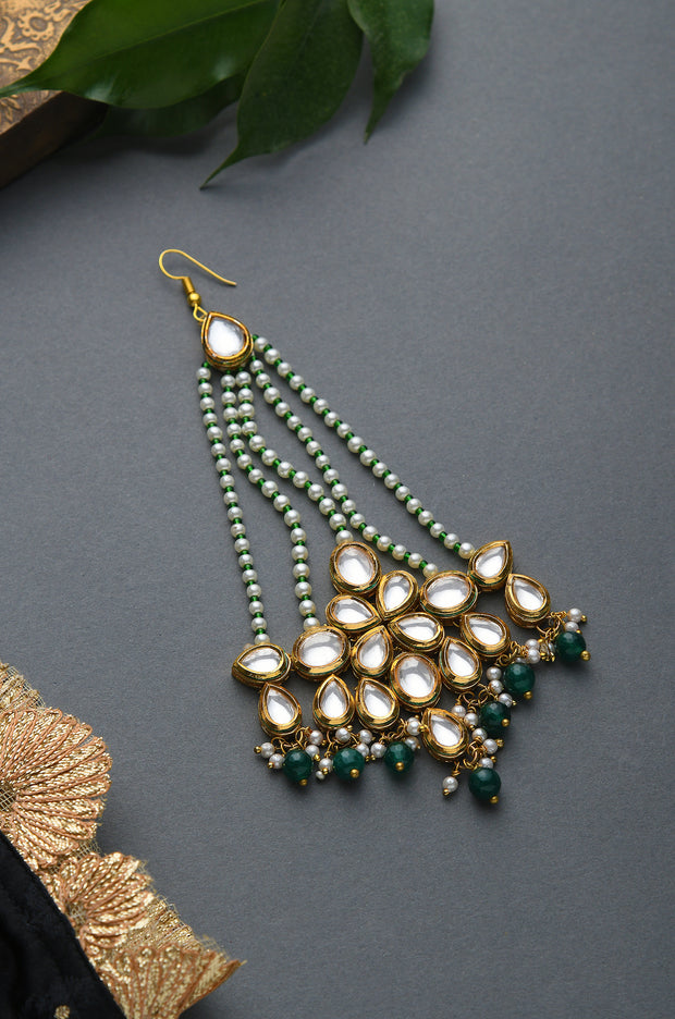 Tarani Kundan and Pearls Pasa/ Jhumar