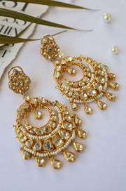 Barkha Silver Victorian Polki Necklace Set