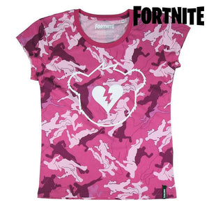 Barn T-shirt med kortärm Fortnite Rosa