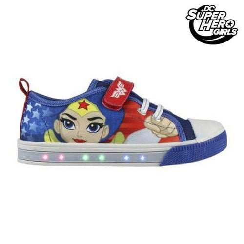 Skor i ledig stil med LED-ljus DC Super Hero Girls Blå