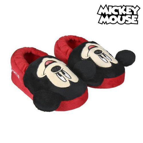 Tofflor 3D Mickey Mouse Röd