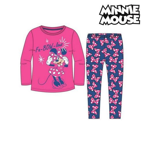 Pyjamas Barn Minnie Mouse 74738 Fuchsia Blå (2 Pcs)