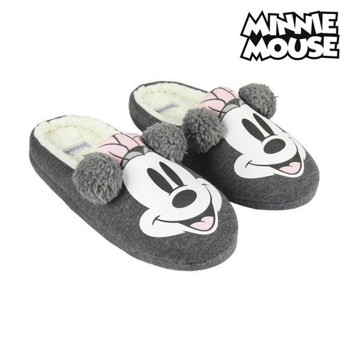 Tofflor Minnie Mouse Grå