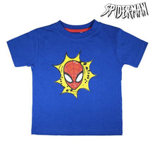 T-shirt med shorts för barn Spiderman Marinblå Vit