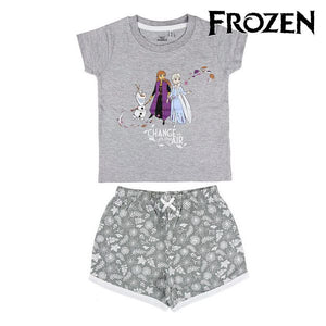 T-shirt med shorts för barn Frozen Grå